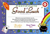 Certificate Of Good Luck Award Certificates (6 Certificates/Pkg)
