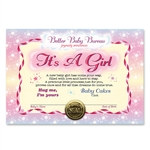 It's A Girl Award Certificates (6 Certificates/Pkg)