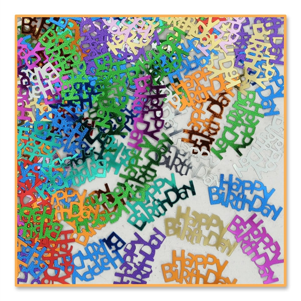 Happy Birthday Confetti PartyCheap