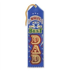 World's Best Dad Jeweled Ribbon