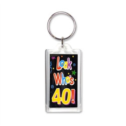 Look Who's 40! Key Chain