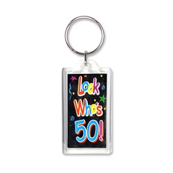 Look Who's 50! Key Chain