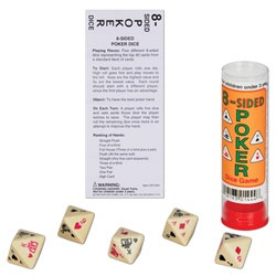 8-Sided Poker Dice Game