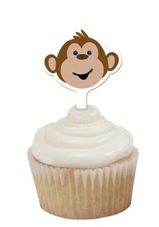Monkey Cupcake Topper (12/pkg) - PartyCheap