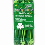 Shamrock Food Picks (200/pkg)