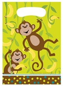 Monkey Party Loot Bags (8/pkg)
