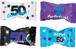 50th Birthday Buttermint Creams (50/pkg)