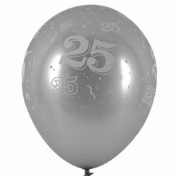 25th Anniversary Latex Balloon