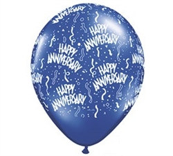 Happy Anniversary Confetti Latex Balloon