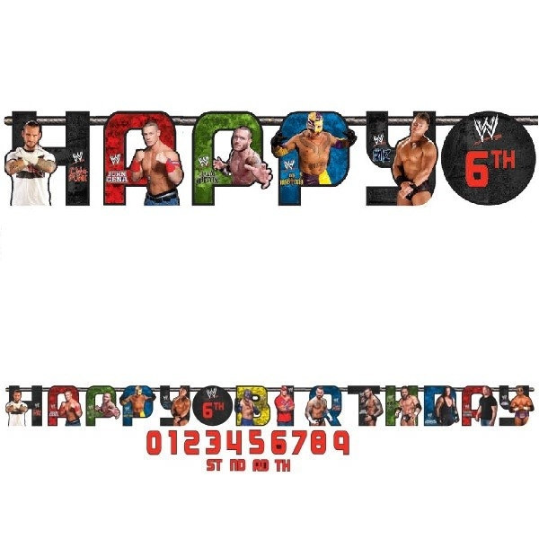 WWE Happy Birthday Banner