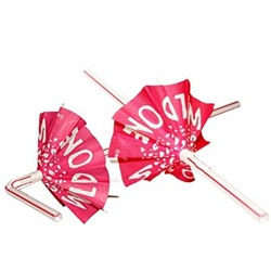 "Bride To Be ""Wild One"" Umbrella Straws"