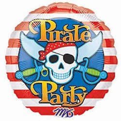 Pirate Party Mylar Balloon