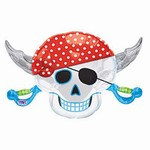 Pirate Skull Mylar Balloon