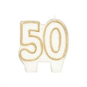 50th Anniversary Candle