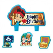 Jake and the Neverland Pirates Candle Set (4/pkg)