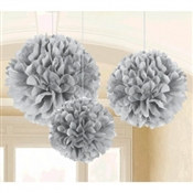 Silver Fluffy Tissue Decoration