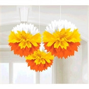 Candy Corn Fluffy Tissue Decoration