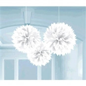 Frosty White Fluffy Tissue Decoration