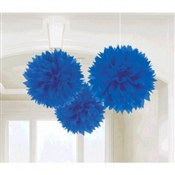Royal Blue Fluffy Tissue Decoration