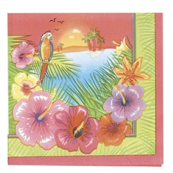 Luau Party Lunch Napkins (16/pkg)