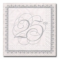 25th Anniversary Beverage Napkins