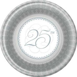 25th Anniversary Dinner Plates