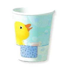 Splish Splash Rubber Duckie Cups, 9 ounces, 8/pkg