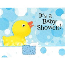 Splish Splash Rubber Duckie Invitations, 8/pkg, Size: 4 inches x 6 7/8 inches