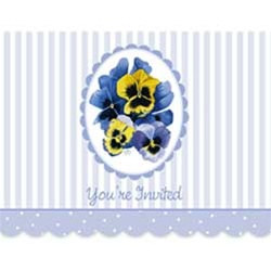 Pansies Invitations (8/pkg)