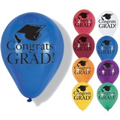 School Colors Graduation Latex Balloons