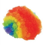 Nylon Rainbow Clown Wig