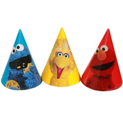 Sesame Street Party Hats (8/pkg)