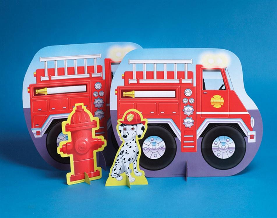 Fire truck centerpiece partycheap