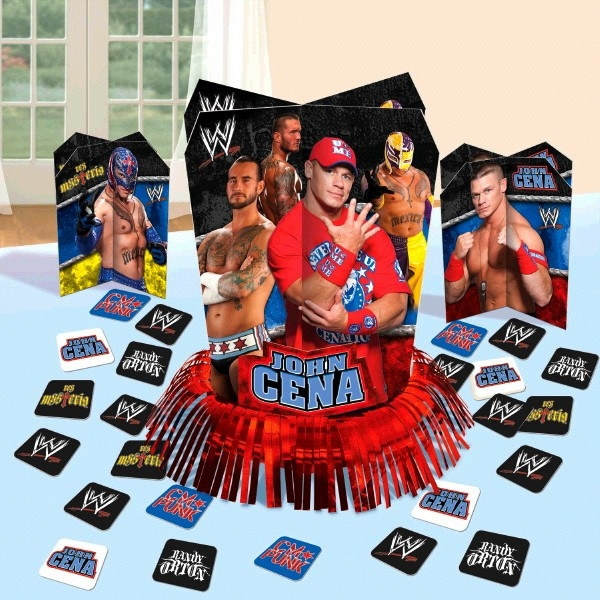 We have every type of WWE party supplies and party decorations imaginable! You can even light your son or daughter's birthday cake with this very creative WWE birthday candle set which contains four separate candles to be used for the guest of honors' birthday cake.
