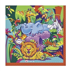 Smiling Safari Beverage Napkins (16/pkg)