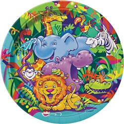 Smiling Safari Lunch Plates (8/pkg)