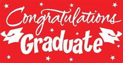 Red Congratulations Graduate Gigantic Sign