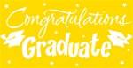 Yellow Congratulations Graduate Gigantic Sign
