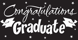Black Congratulations Graduate Gigantic Sign