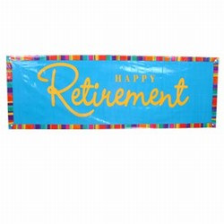 Happy Retirement Giant Party Banner