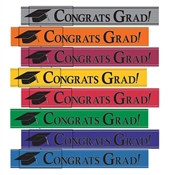 School Colors Foil Graduation Banner
