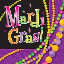 Mardi Gras Beads Lunch Napkins (16/pkg)