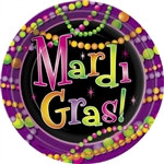 Mardi Gras Beads Lunch Plates (8/pkg)
