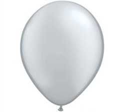 Silver Latex Balloon (8/pkg)