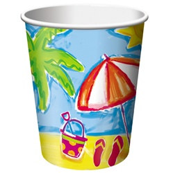 Beach Party Hot/Cold Cups (8/pkg)
