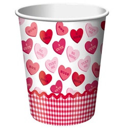 Valentine Sweet Greetings Hot/Cold Cups (8/pkg)