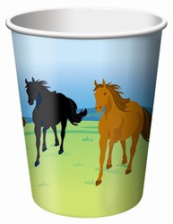 Wild Horses Hot/Cold Cups, 9 ounces, 8/pkg