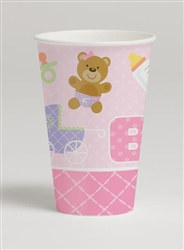 Teddy Baby Pink Hot/Cold Cups (8/pkg)