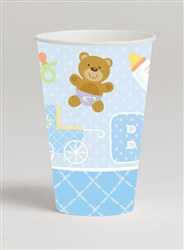 Teddy Baby Blue Hot/Cold Cups (8/pkg)