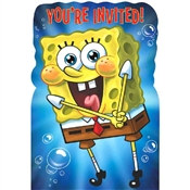 Spongebob Invitations (8/pkg)